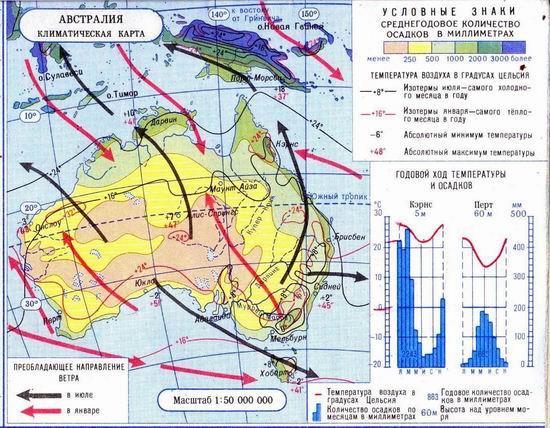 Климатическая карта австралии